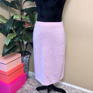 Like New St. John Evening Lilac Shimmer Knit Skirt